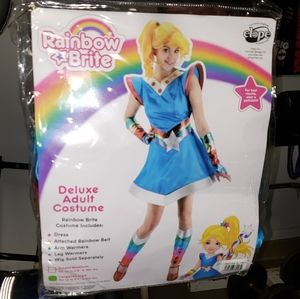 Rainbow Brite deluxe costume ladies size l/xl